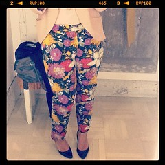 floral pants from anthropologie