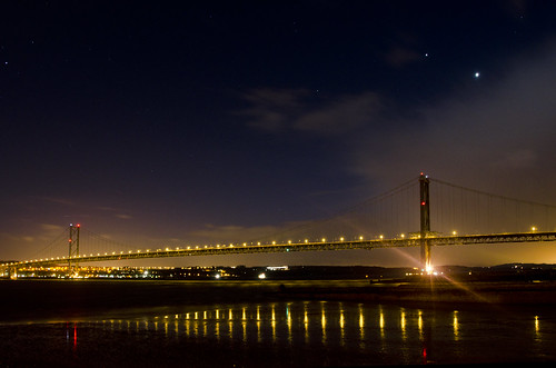 Jupiter and Venus over the Forth Road Bridge