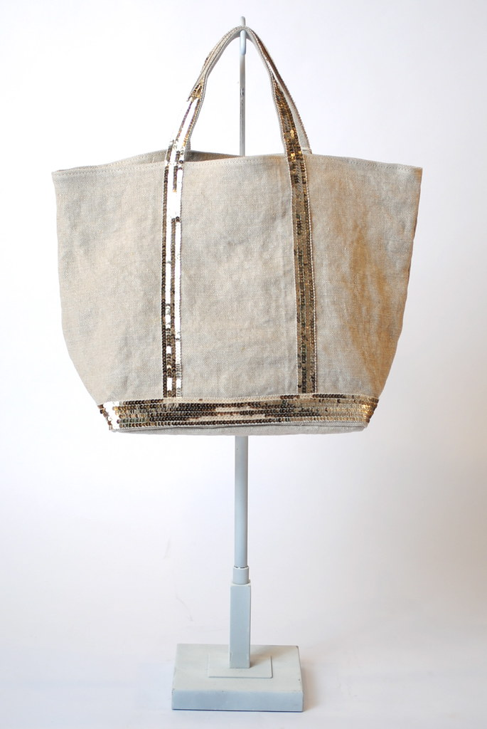 Linen Medium Sequin Tote bag