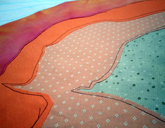 reversed applique layer 3 -Tree Topography - Project QUILTING, Season 3, Challenge 5