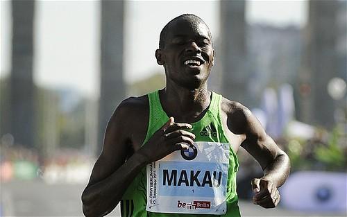 Patrick Makau en el Maraton de Berlin 2011