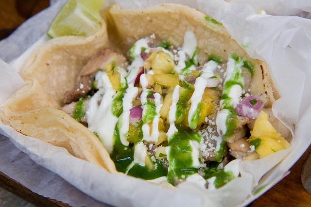 Cola-braised pork taco, Brooklyn Taco Co.