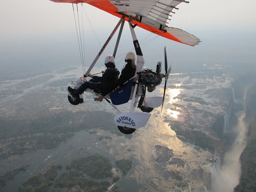 Microlighting over Vic Falls
