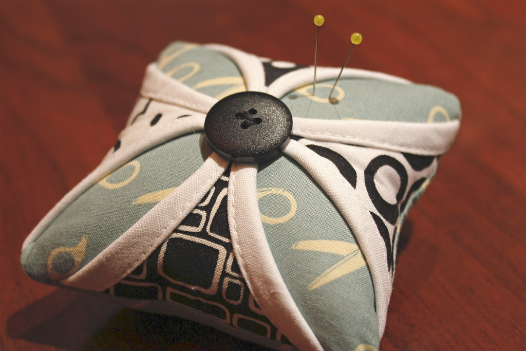 Cathedral window pin cushion