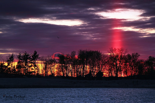 Sun Pillar - Sunset
