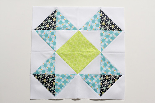 Half-Square Triangle Block of the Month May Quilt Block Tutorial - In Color Order