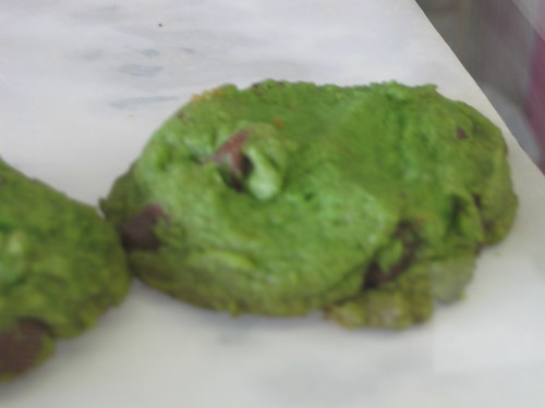 Green cookies for St. Pat's Day