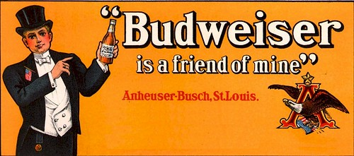 """Budweiser is a friend of mine"" song and beer advertisement by carlylehold"