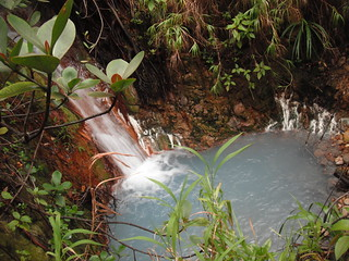 Hot spring with waterfall!