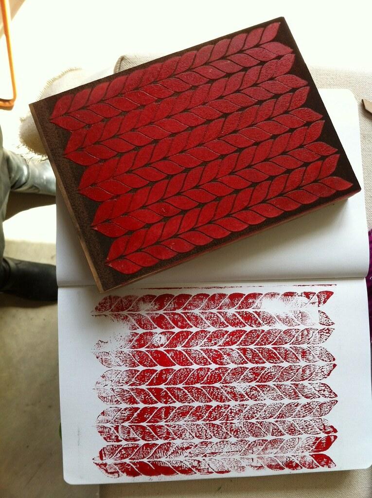 Lasercut Print Block