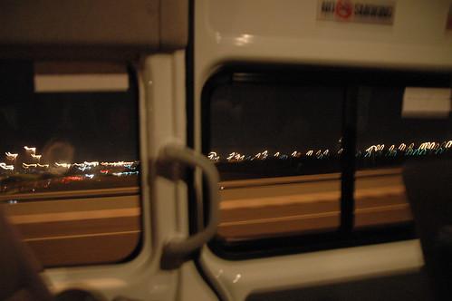 高速道路疾走中。