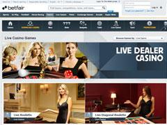 Betfair Live Casino Lobby