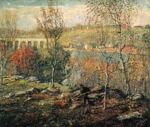 Ernest Lawson - The Harlem River [c.1911] by Gandalf's Gallery