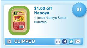Nasoya Super Hummus  Coupon