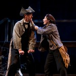 Ken Cheeseman (Silver the Horse) and Molly Schreiber (Raz) in the Huntington Theatre Company's production of Paula Vogel's A CIVIL WAR CHRISTMAS: AN AMERICAN MUSICAL CELEBRATION playing at the BU Theatre. Part of the 2009-2010 season.