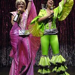"""Compared to recent Broadway dreck and jukebox musicals, """"Mamma Mia"""" seems like high art  in """"Forbidden Broadway,"""" presented by the Huntington Theatre Company through at the Calderwood Pavilion at the Boston Center for the Arts. Part of the 2005-2006 season. Photo by Eric Antoniou."""