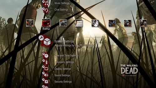 The Walking Dead for PS3 (PSN): PS3 Dynamic Theme