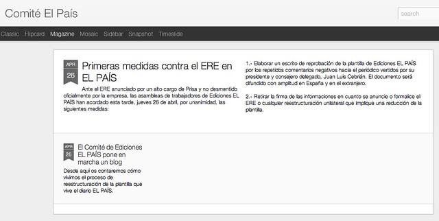 Comité de empresa de El País