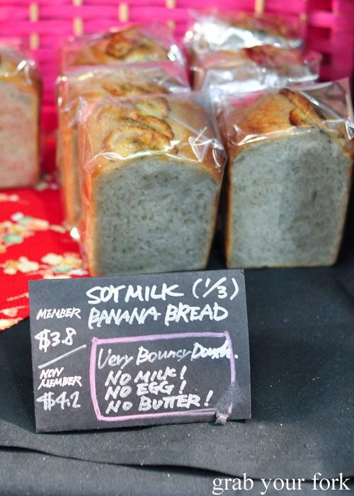 Soy milk banana bread at the Adelaide Showground Farmers Market