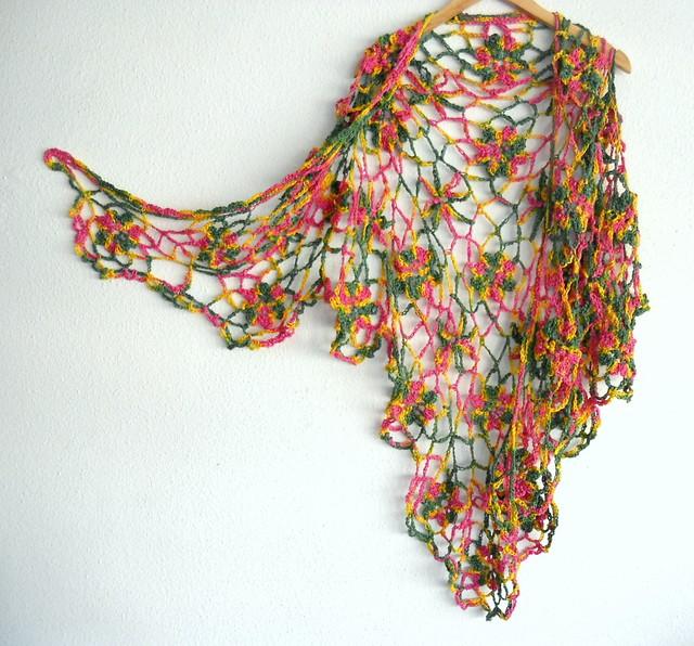 Chal en algodón teñido a mano