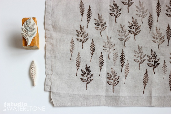 Block Prints on Recycled Linen