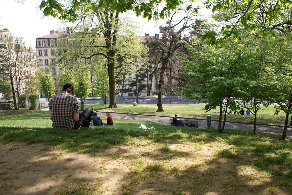 Parc et jardins à Lyon : Jardin des plantes sur les pentes de la Croix Rousse.