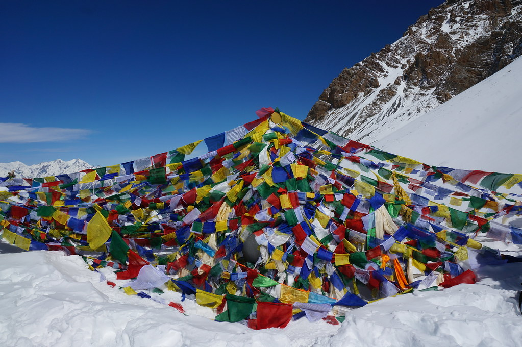 Prayer Flags on the Thorong La Pass