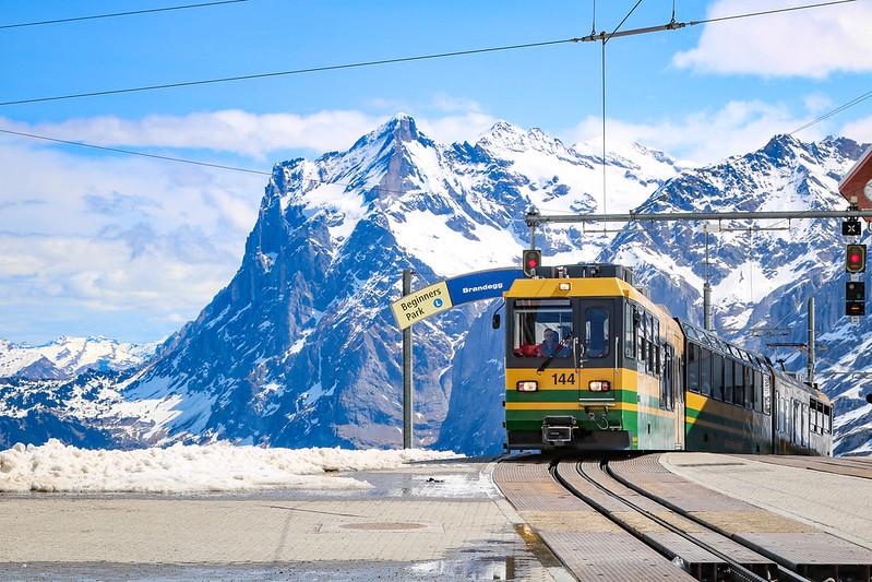 A scenic train ride to Jungfraujoch Top of Europe Adventurous Miriam