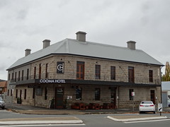 Cooma. The old granite Cooma Hotel built in 1862.
