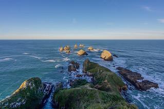 Image of  Nugget Point Lighthouse  near  Kaka Point. newzealand lighthouse southisland otago southland nuggetpoint