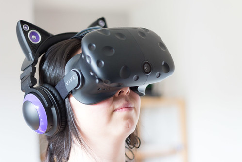 HTC Vive looking up