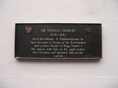 Photo of Thomas Herbert bronze plaque