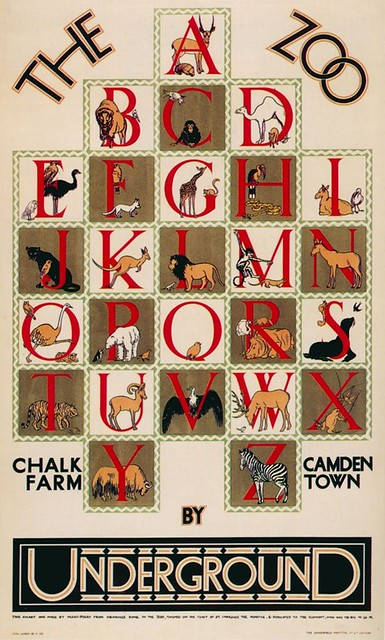 "1928 ""Zoo Alphabet"" London Underground Poster"