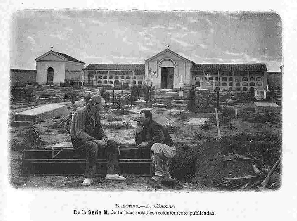 Cementerio de ¿Toledo? hacia 1900. Fotografía de Antonio Cánovas del Castillo (Káulak)