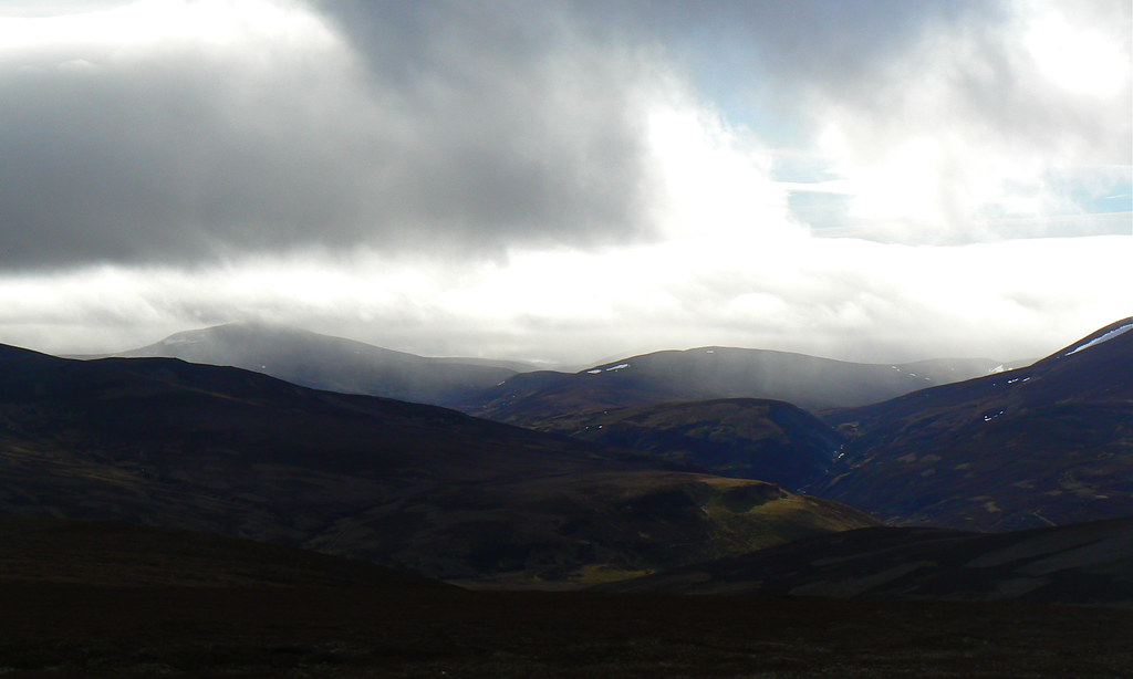 Showers passing through Glen Gairn