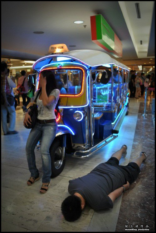Planking done in MBK, Thailand