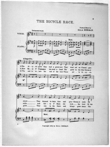Bicycle Race Sheetmusic