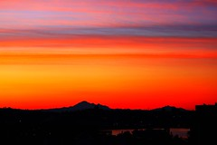 Breathtaking sunrise colours over Mt Baker