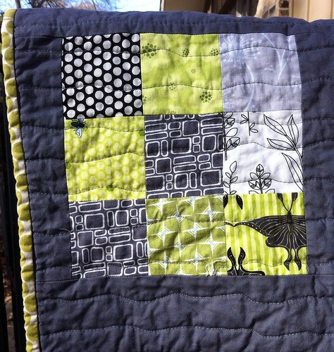 gray/green quilting