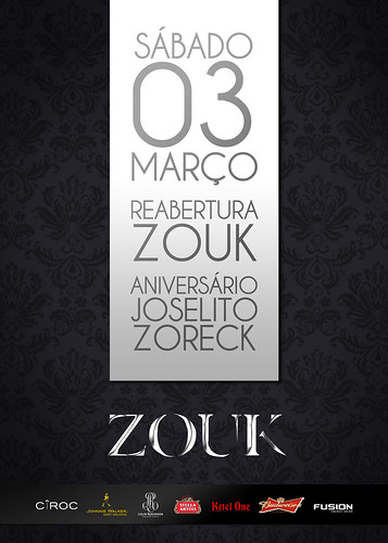 Flyer - Reabertura Zouk by chambe.com.br