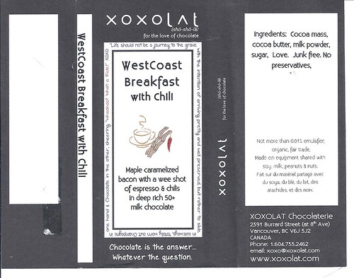 XOXOLAT WestCoast Breakfast with Chili