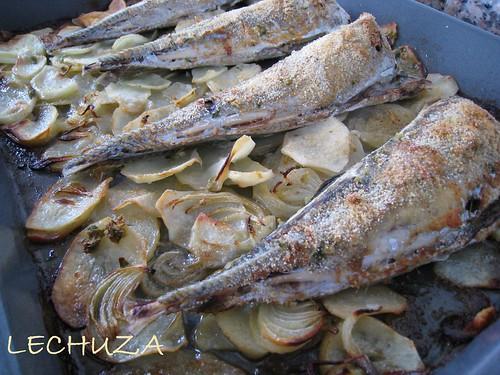 Chicharros-Jureles al horno-horneado
