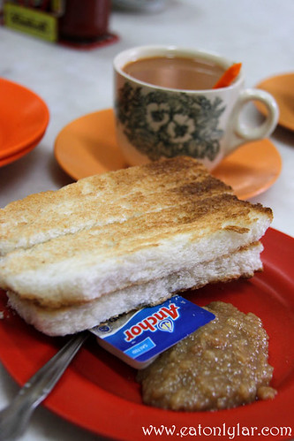 Roti Bakar with Kaya and Butter, Yut Kee Restaurant