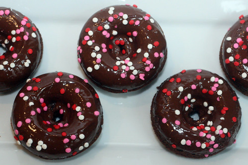 chocolate sprinkle doughnuts