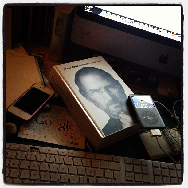 reading the Steve Jobs bio