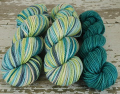 """Neuschwanstein Castle"" 7.1oz Organic Ultrarfine Merino + optional 1.8oz trim"