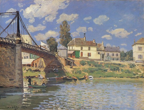Alfred Sisley - Bridge At Villeneuve-La-Garenne [1872] by Gandalf's Gallery