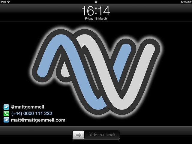 iPad Retina Display Lock Screen