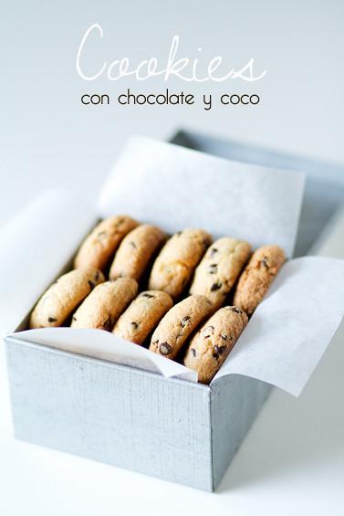 Cookies con chocolate y coco