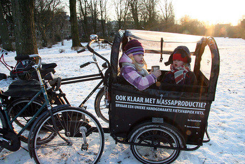 Amsterdam Ice - Warming Up in the Bakfiets